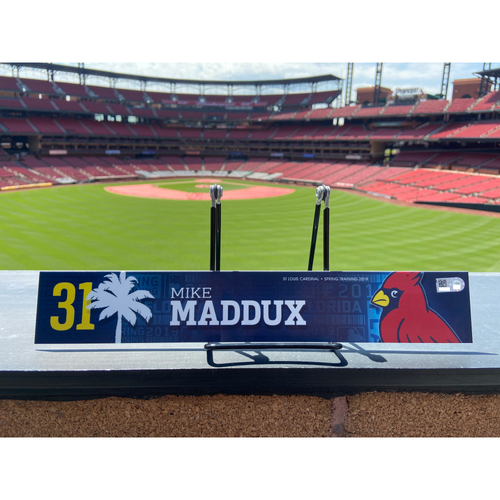 Photo of Cardinals Authentics: Mike Maddux Game Used Spring Training Locker Tag