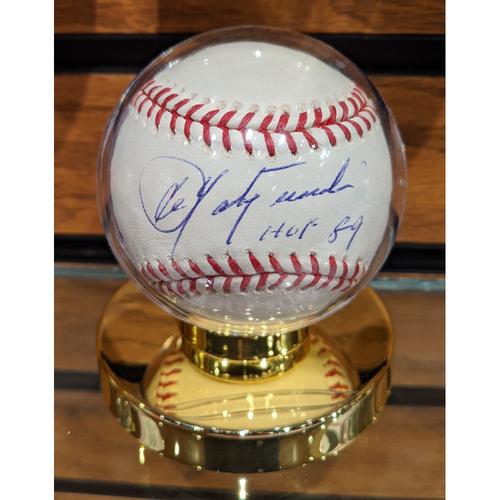 Photo of Carl Yastrzemski 'HOF 89' Inscription Autographed Baseball