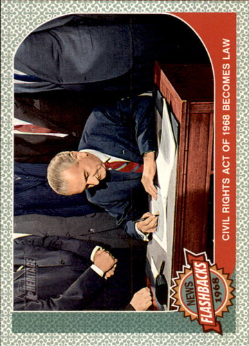 Photo of 2017 Topps Heritage News Flashbacks #NF12 Civil Rights Act of 1968