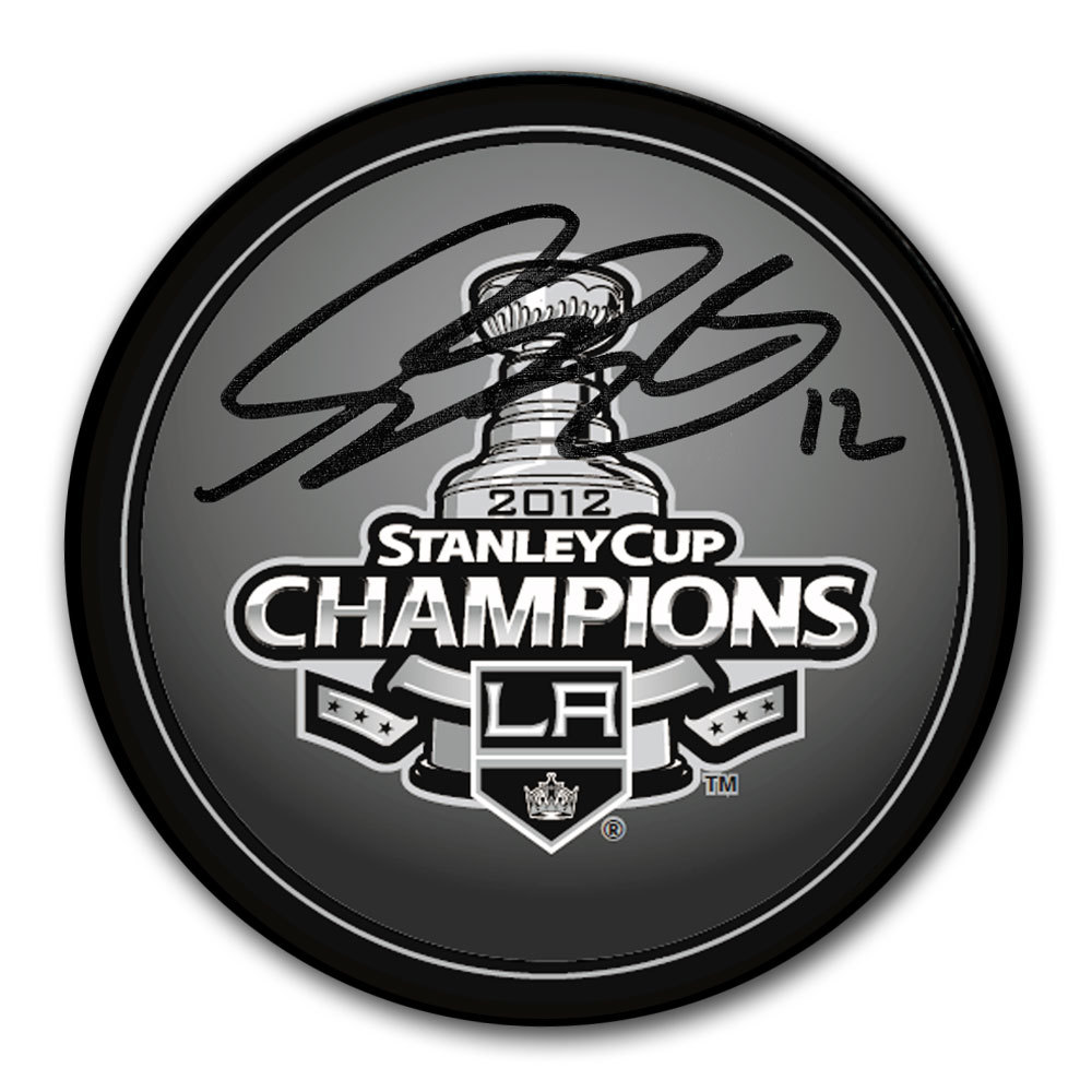 Simon Gagne Los Angeles Kings 2012 Stanley Cup Champions Autographed Puck