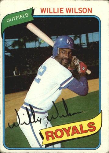 Photo of 1980 Topps #157 Willie Wilson DP