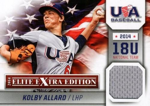 Photo of 2014 Elite Extra Edition USA Baseball 18U Game Jerseys #17 Kolby Allard