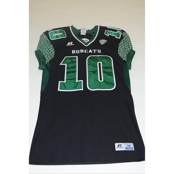Photo of # 10 - Official OHIO BOBCATS Game Worn Football Jersey (2011) - SIZE MEDIUM