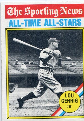 Photo of 1976 Topps #341 Lou Gehrig -- All Time Great  -- Hall of Famer