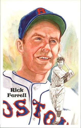 Photo of 1980-02 Perez-Steele Hall of Fame Postcards #187 Rick Ferrell -- HOF Class of 1984
