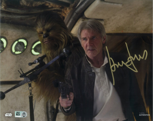 Harrison Ford as Han Solo 8x10 Autographed in Gold Ink Photo