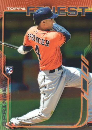 Photo of 2014 Finest #39 George Springer  Rookie Card