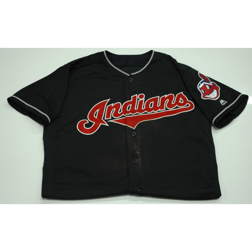 Photo of Jose Ramirez Game-Used Jersey  - 9/22 vs. Boston Red Sox (Tribe Sets MLB K's Record)