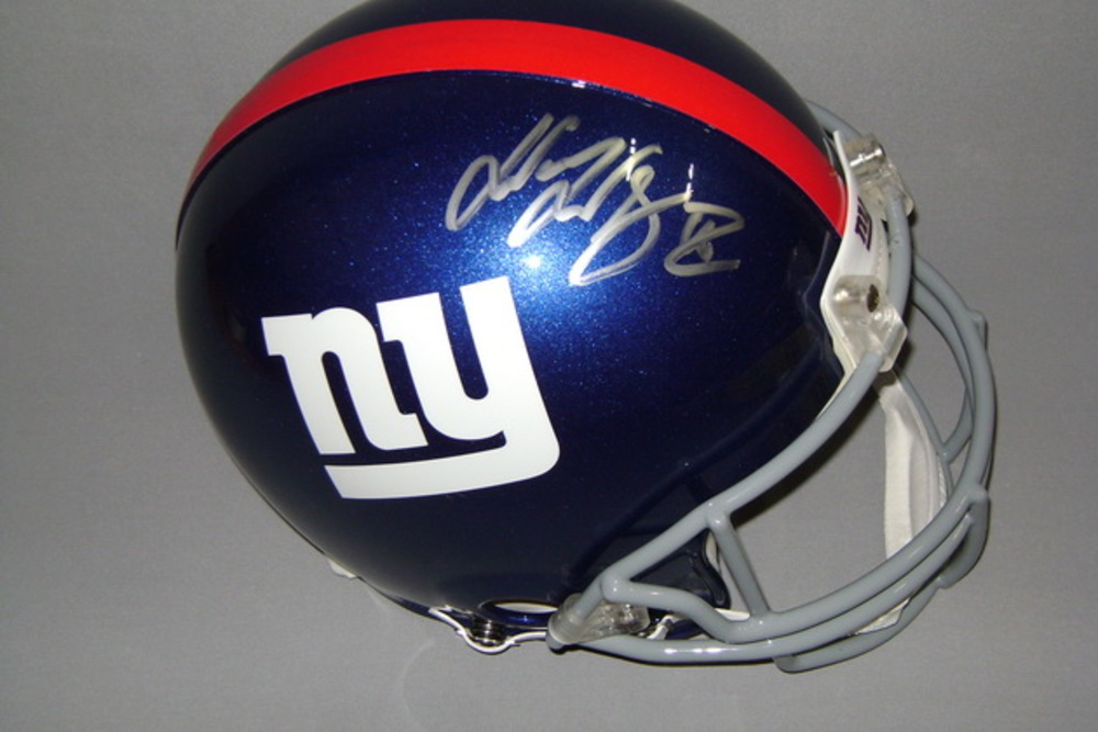NFL - Giants Wayne Gallman signed Giants proline helmet