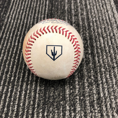 Photo of 2019 Spring Training Game Used Baseball vs. Chicago Cubs - Pitch from the Bottom of the 2nd