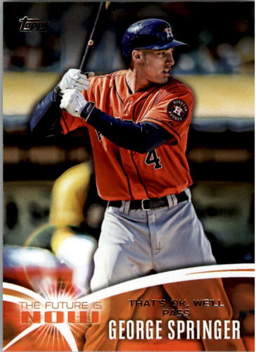 Photo of 2014 Topps The Future is Now #FNGS3 George Springer UPD