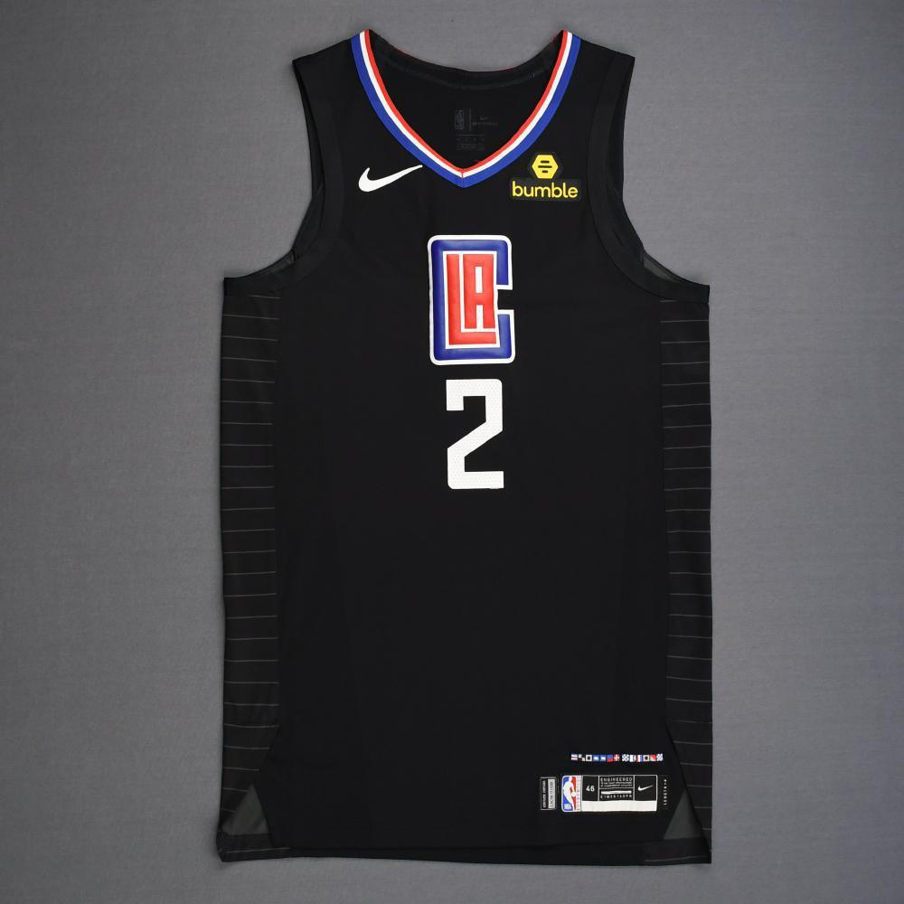 Shai Gilgeous-Alexander - Los Angeles Clippers - 2019 NBA Playoffs - Game-Worn Black Statement Edition Jersey