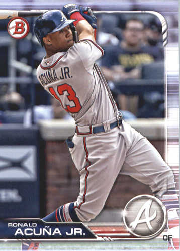 Photo of 2019 Bowman #78 Ronald Acuna Jr.