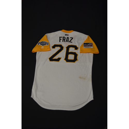 "Photo of 2019 Little League Classic - Game Used Jersey - Adam ""Fraz"" Frazier,  Chicago Cubs at Pittsburgh Pirates - 8/18/2019 (Size - 44)"