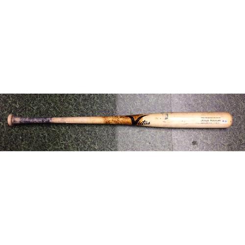 Jesus Aguilar 03/31/19 Game-Used Cracked Bat
