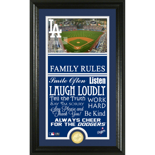 Photo of Los Angeles Dodgers Personalized Family Rules Photo Mint