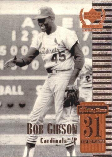 Photo of 1999 Upper Deck Century Legends #31 Bob Gibson