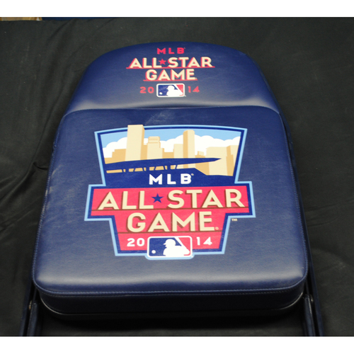 Photo of 2014 All Star Game (07/14/2014) - Autographed Locker Room Chair - Greg Holland (Colorado Rockies)