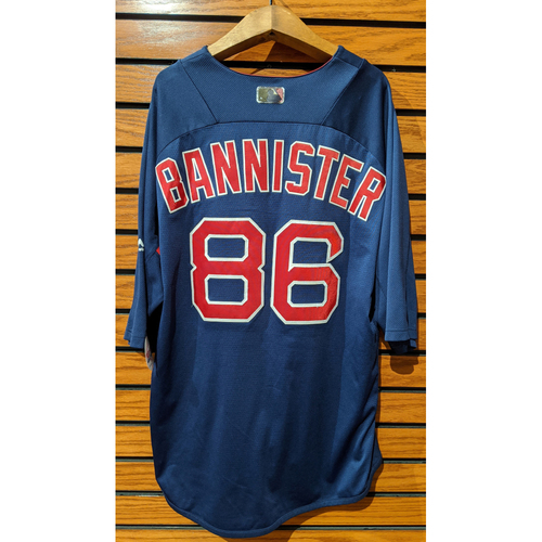 Photo of Brian Bannister #86 Team Issued Blue Batting Practice Jersey