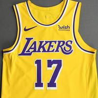 Dennis Schroder - Los Angeles Lakers - Kia NBA Tip-Off 2020 - Game-Worn Icon Edition Jersey - Lakers' Debut - Recorded a Double-Double