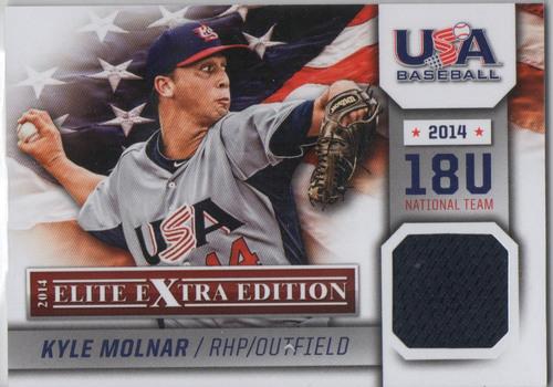 Photo of 2014 Elite Extra Edition USA Baseball 18U Game Jerseys #18 Kyle Molnar