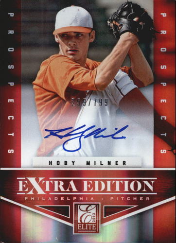 Photo of 2012 Elite Extra Edition #197 Hoby Milner AU/799