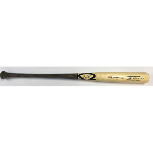 Photo of Kyle Schwarber Autographed Game Model Dinger Bat