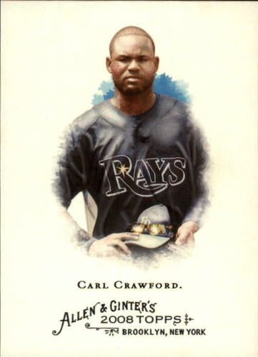 Photo of 2008 Topps Allen and Ginter #340 Carl Crawford SP
