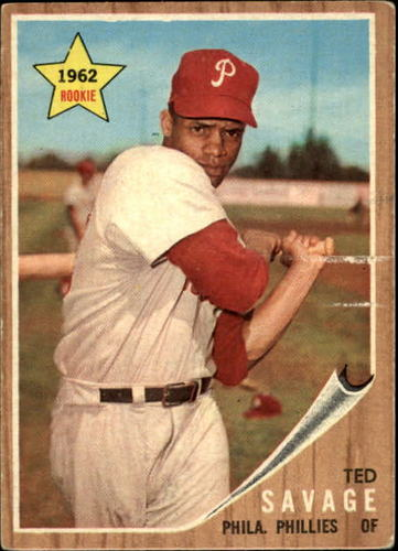 Photo of 1962 Topps #104 Ted Savage RC