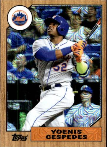 Photo of 2017 Topps '87 Topps Silver Pack Chrome #87YC Yoenis Cespedes