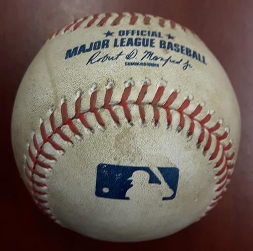 Authenticated Game Used Baseball - Freddie Freeman single off Ryan Tepera (May 16, 2017)