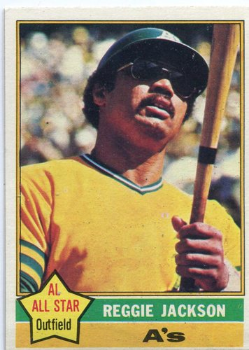 Photo of 1976 Topps #500 Reggie Jackson -- Hall of Famer
