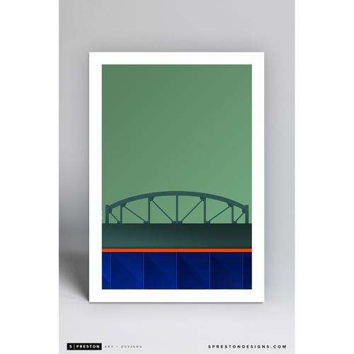 Photo of Citi Field - Minimalist Ballpark Art Print by S. Preston  - New York Mets
