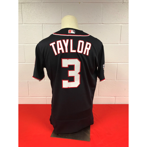 Photo of Michael A. Taylor Game-Used 2018 Navy Stars and Stripes Jersey with All Star Game Patch