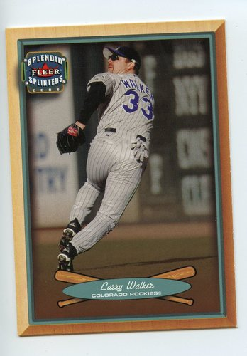 Photo of 2003 Fleer Splendid Splinters #12 Larry Walker