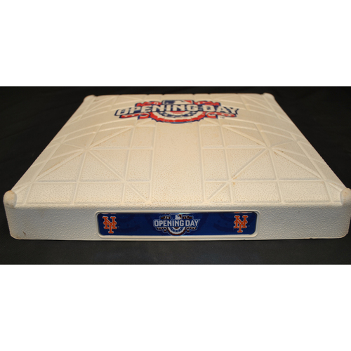 Photo of Game Used Opening Day Base - Atlanta Braves at New York Mets (4/3/2017) - 3rd Base - 1st Inning
