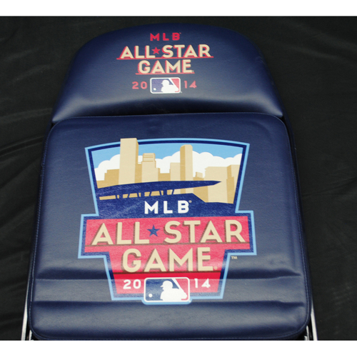Photo of 2014 All Star Game (07/14/2014) - Autographed Locker Room Chair - Nelson Cruz (Texas Rangers)