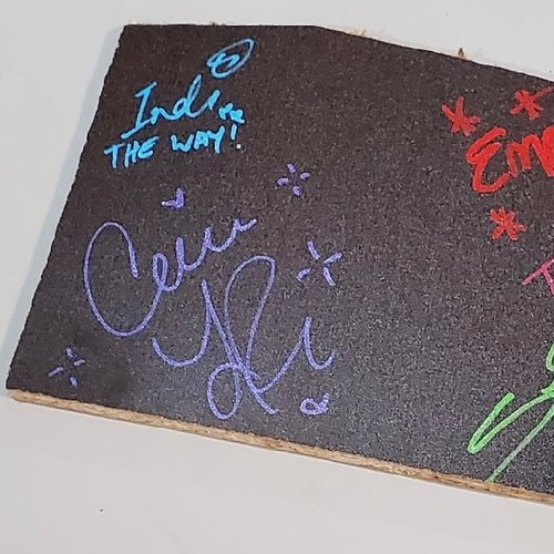 Candice LeRae, Indi Hartwell, Ember Moon, and Shotzi Blackheart SIGNED and USED Table Piece(NXT TV 5/4/2021)