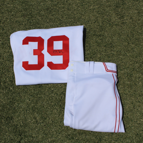 Photo of Game-Used & Autographed Monarchs Jersey & Game-Used Pants: Tony Pena Jr. #39 (DET @ KC 5/23/21) - Size 46