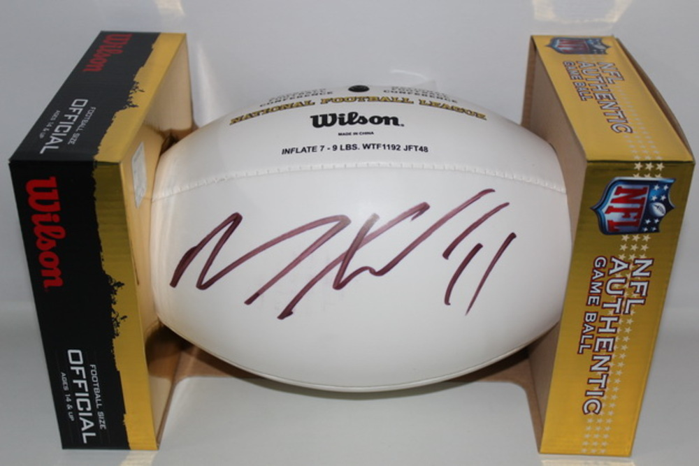 DOLPHINS - MIKE WALLACE SIGNED PANEL BALL