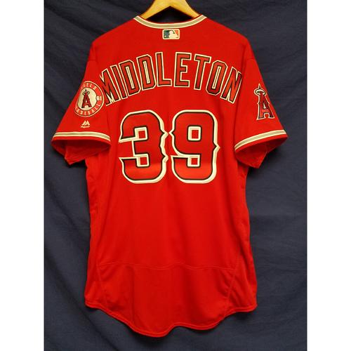Keynan Middleton Team-Issued Alternate Red Jersey