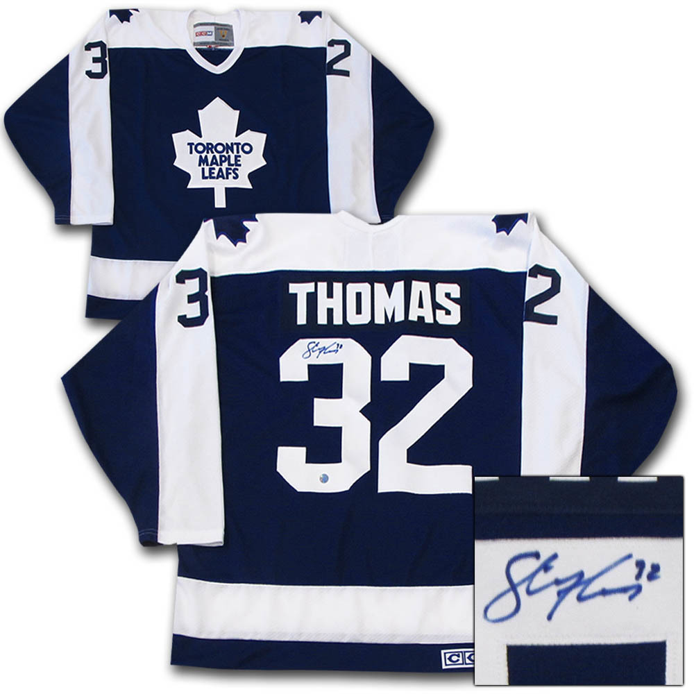 Steve Thomas Autographed Toronto Maple Leafs Jersey
