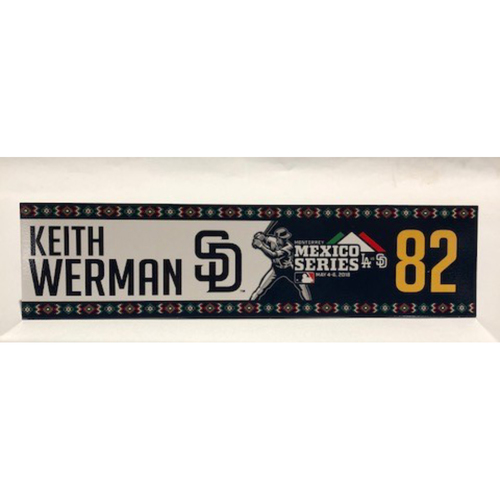 Photo of 2018 Mexico Series - Keith Werman Game-Used Locker Tag