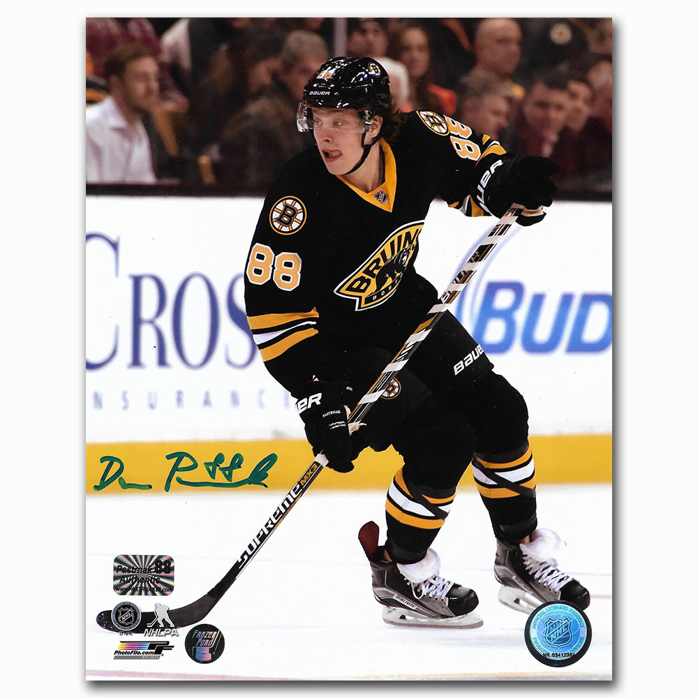 David Pastrnak Autographed Boston Bruins 8X10 Photo