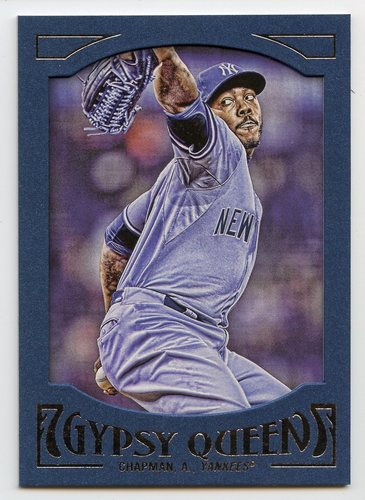 Photo of 2016 Topps Gypsy Queen Framed Blue #22 Aroldis Chapman