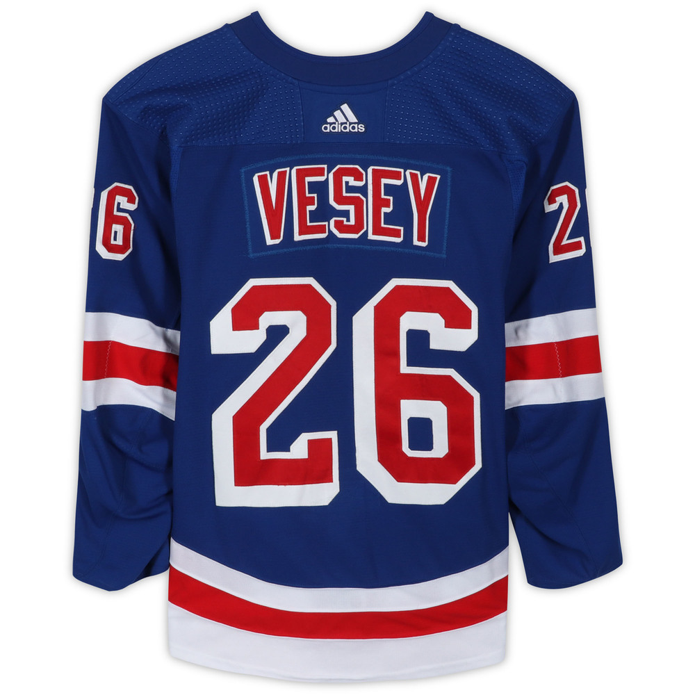 Jimmy Vesey New York Rangers Game-Used #26 Blue Set 1 Jersey from ...
