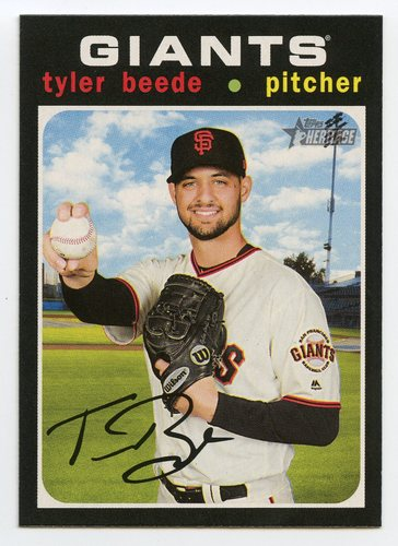 Photo of 2020 Topps Heritage #163 Tyler Beede