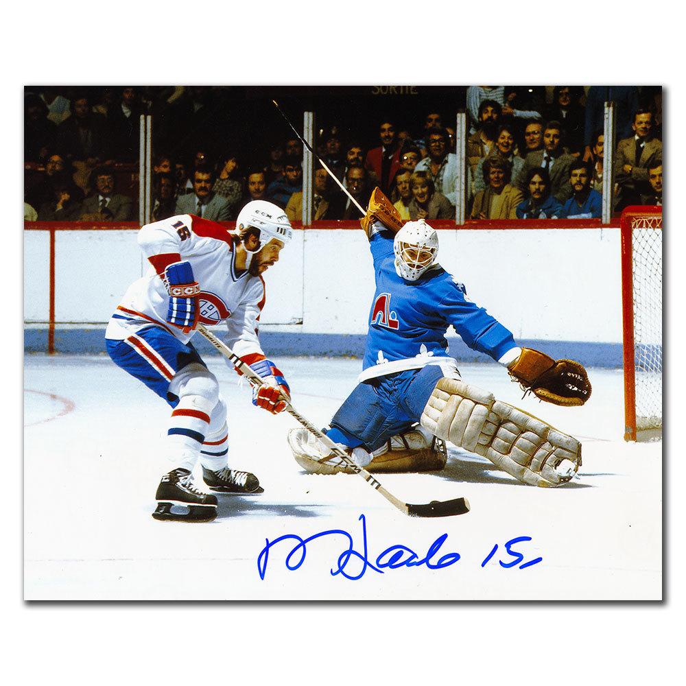 Rejean Houle Montreal Canadiens vs NORDIQUES Autographed 8x10