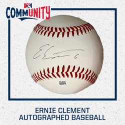 Photo of Ernie Clement Autographed Baseball