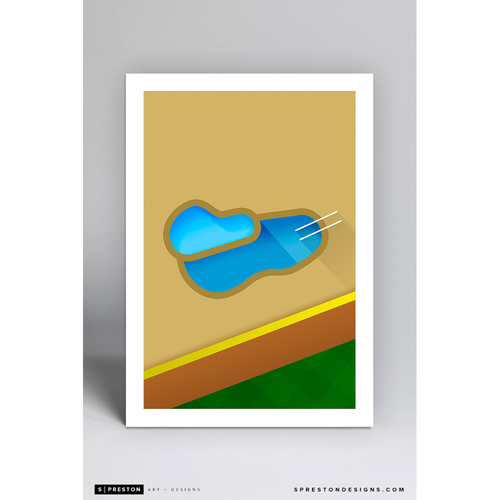 Photo of Chase Field - Minimalist Ballpark Art Print by S. Preston - Arizona Diamondbacks